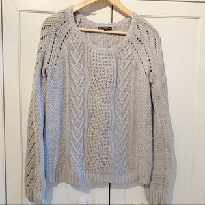 Pierri NY gray cable knit sweater large